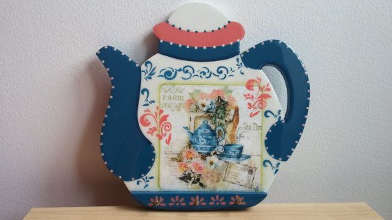 tea pot to hung by CraftsElisa on Etsy