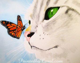 Kat afdrukken met grijs Cyperse Print, Cat Art, kat kunst aan de muur, Decor van het huis van de kat, Cat Wall Decor, kat schilderij, grijs Cypers kunst, grijs Cyperse schilderij
