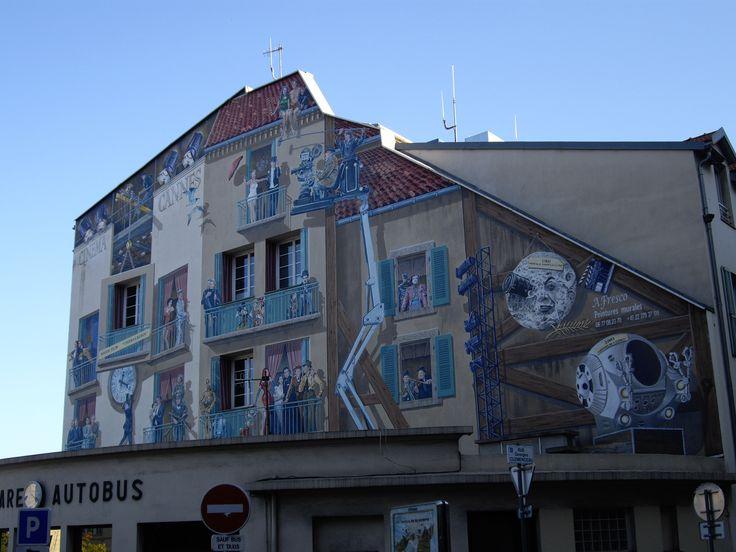 Cannes - Gare Routière - Fresque murale dédiée au cinéma. By Stefania Antonelli