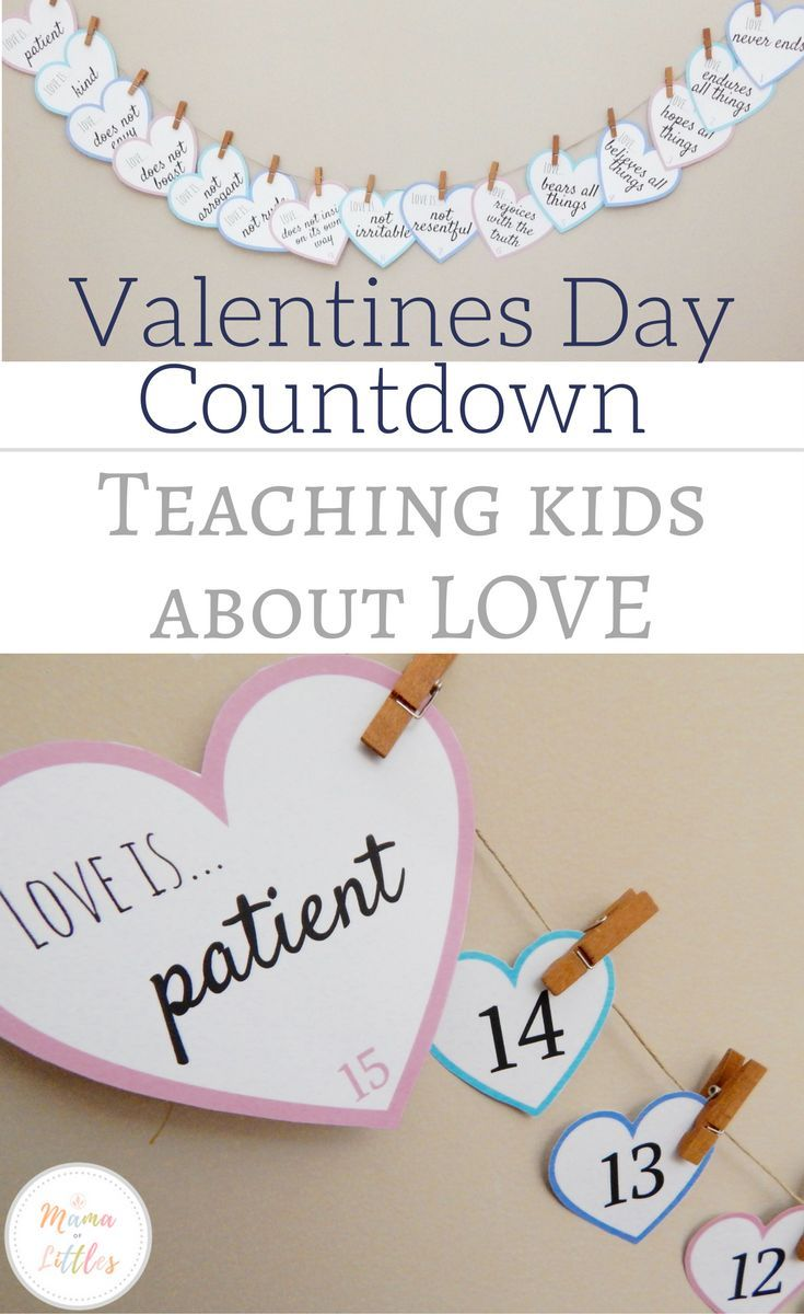Help children understand what the bible says about love with this countdown to valentines day and devotional. #valentinesday #teachingkindness