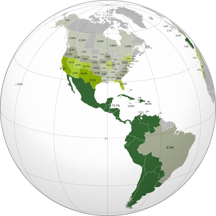 231 best maps and cartograms images on pinterest maps cartography spanish speakers in the americas from wikimedia spanish northamerica latinamerica gumiabroncs Images