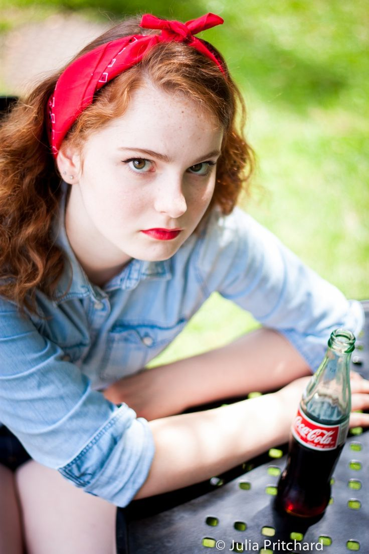 The coke adds the perfect flavor to this 1950s shoot by Jul