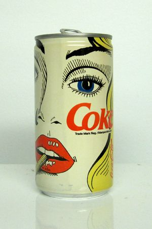 Adore these Lichtenstein inspired Vintage Coke Cans- if you are going to 'steal' steal from the best!