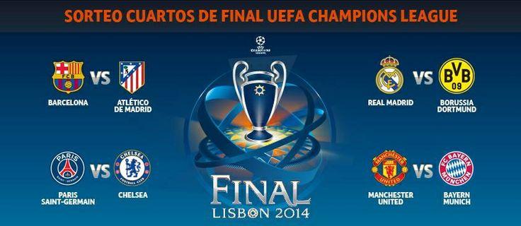 """Así quedo el sorteo de los 4tos de final De la """"UEFA Champions League"""""""