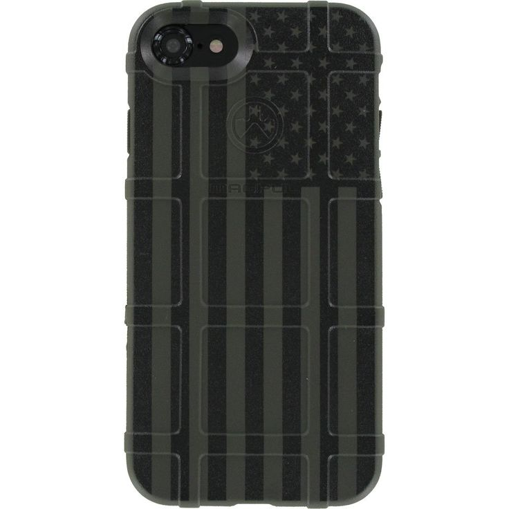 """LIMITED EDITION - Authentic Made in U.S.A. Magpul Industries Field Case for Apple iPhone 7,8 ONLY (Standard 4.7"""" Size) MAG845 (OD Green Subdued US Flag). This 100% Authentic, Made in the USA Magpul Industries Field Case, through the magical process of UV Laser Printing, created this amazing one-of-a-kind case for the Apple iPhone 7,8 ONLY (Standard 4.7"""" Version)."""