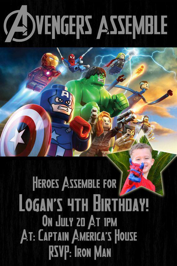 Cute Avenger Birthday Invitations Gallery - Invitation Card Ideas ...