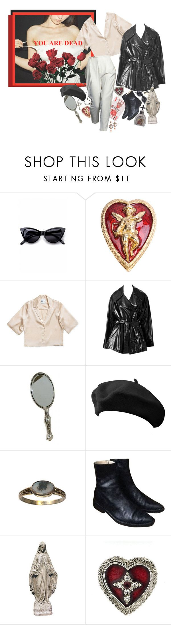 """her who slayed the king"" by die-kunstlerin ❤ liked on Polyvore featuring Retrò, Susan Caplan Vintage, Alaïa, Dolce&Gabbana, Ann Demeulemeester, Doo.Ri and 1928"