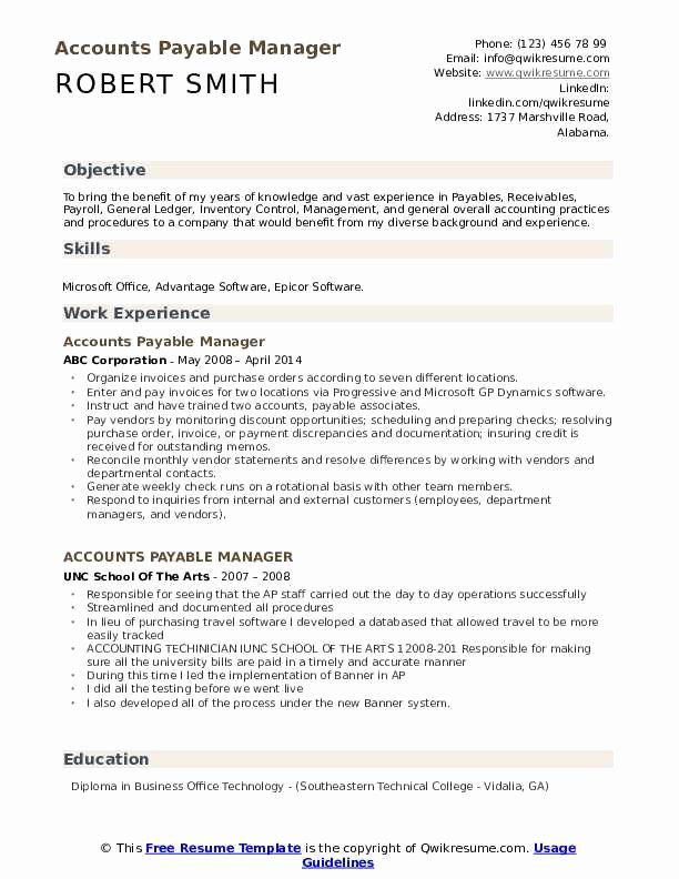 Accounts Payable Resume Example Sample Of Accounts Payable Resume Tier Co Resume Cover Letter Ideas In 2020 Sample Resume Templates Job Resume Samples Resume Examples