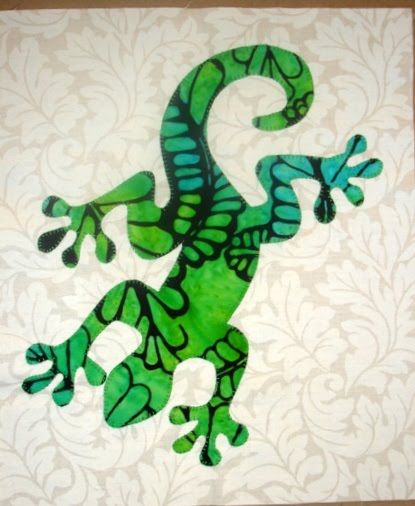 GECKO AND LIZARD QUILT PC