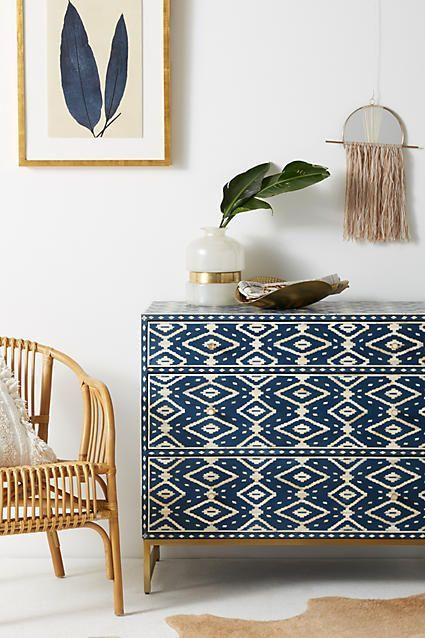 Ikat Inlay Three-Drawer Dresser #AnthroFave