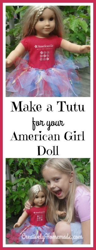 Learn how to make a patriotic tutu for an American Girl doll. It's quick and easy. See the tutorial here!