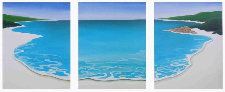 This limited edition print is a classic example of the unique art produced by Mandy. It is of no particular beach but it could be any of the pristine seascapes in the local area of Margaret River Western Australia