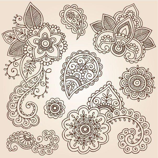 Шаблоны для росписи хной фото #5