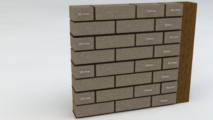 Cuts in Face Brickwork Panel