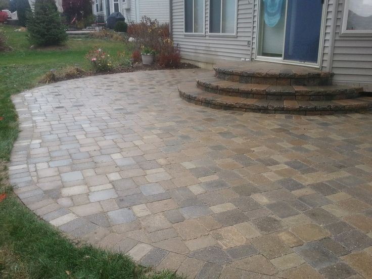 27 best images about stone patio paver  firepit designs on pinterest