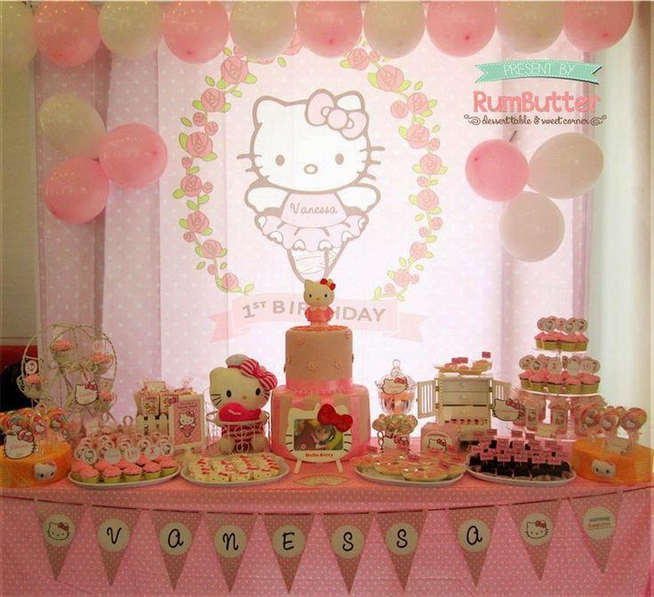 Hello Kitty Birthday Table Decoration Image Inspiration of Cake