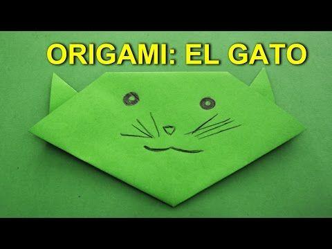 Manualidades de papel origami facil de papel el gato - Youtube manualidades de papel ...