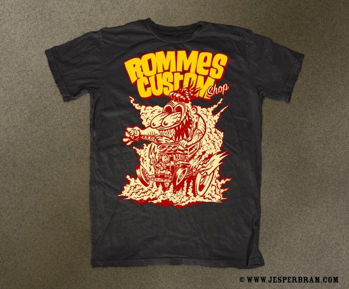 T-Shirt for Rommes Custom Shop