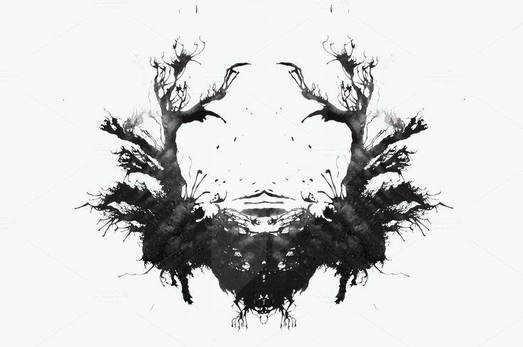Ink Blot Tests (rorschach test) by Little Fonts on @creativemarket