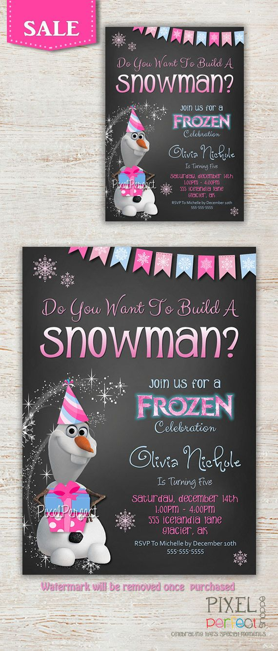 Hey, I found this really awesome Etsy listing at https://www.etsy.com/listing/177147210/frozen-birthday-invitations-frozen