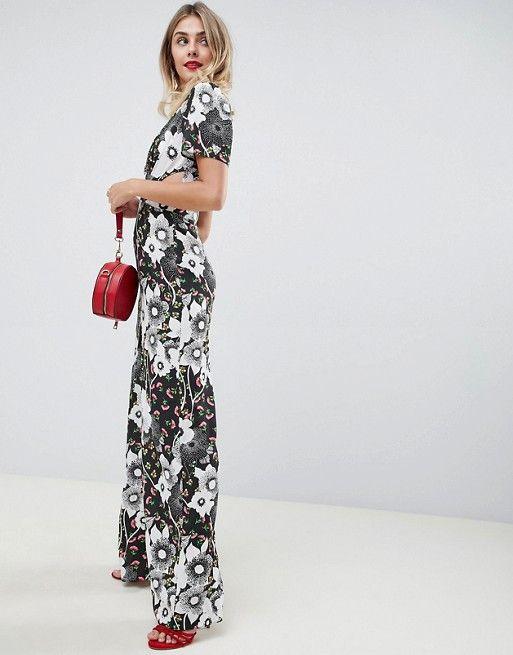 1861afea934 DESIGN tea jumpsuit in mixed floral print