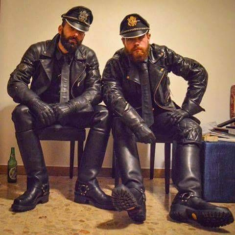 Leather uniforms boots Fan!!!!