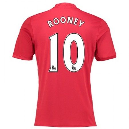 Manchester United 16-17 Wayne #Rooney 10 Hjemmebanesæt Kort ærmer,208,58KR,shirtshopservice@gmail.com