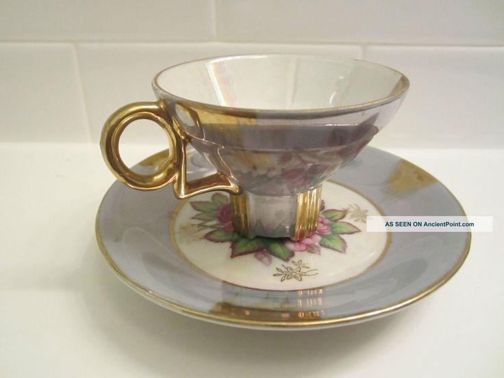 Halsey Antique Gilded Demitasse Cup And Saucer Cups & Saucers photo