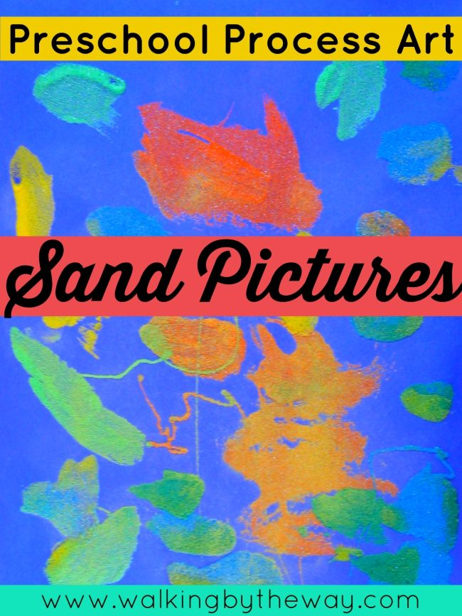 preschool process art sand pictures from walking by the way