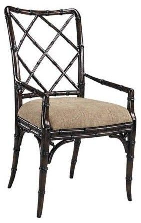 Faux bamboo Accent Chair asian dining chairs and benches