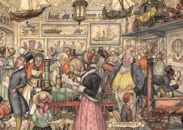 Anton Pieck: De Tentoonstelling (1000 stukjes) Jumbo bij Puzzlestore.nl