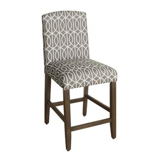 HomePop 24 Inch Counter Height Finely Curved Top Barstool   18993137    Overstock.com