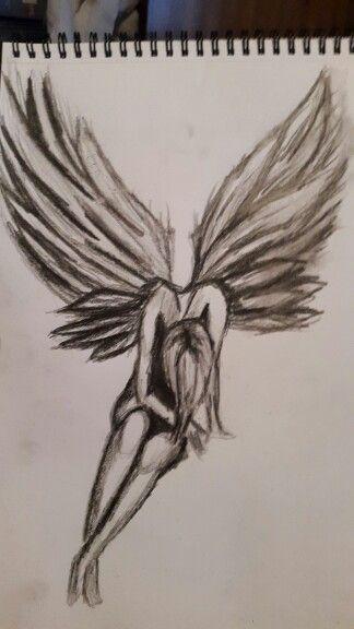 2 hour sketch. Fallen angel #2