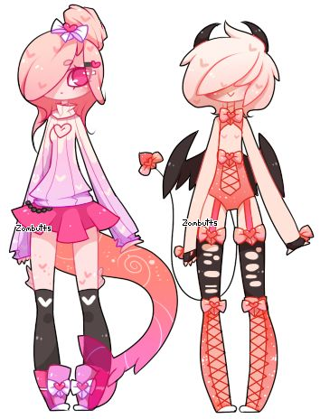 Valentine's Day Adopts! CLOSED by Zombutts.deviantart.com on @DeviantArt