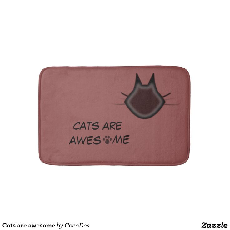 Cats are awesome bath mats