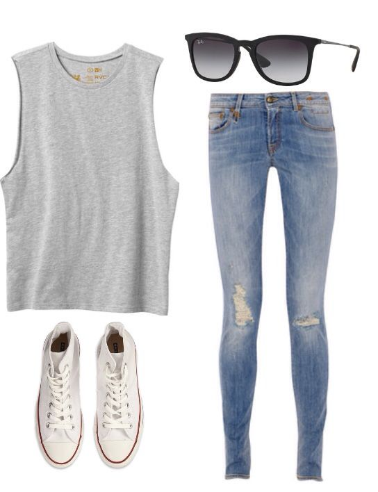 I love this outfit for a day at an amusement park!