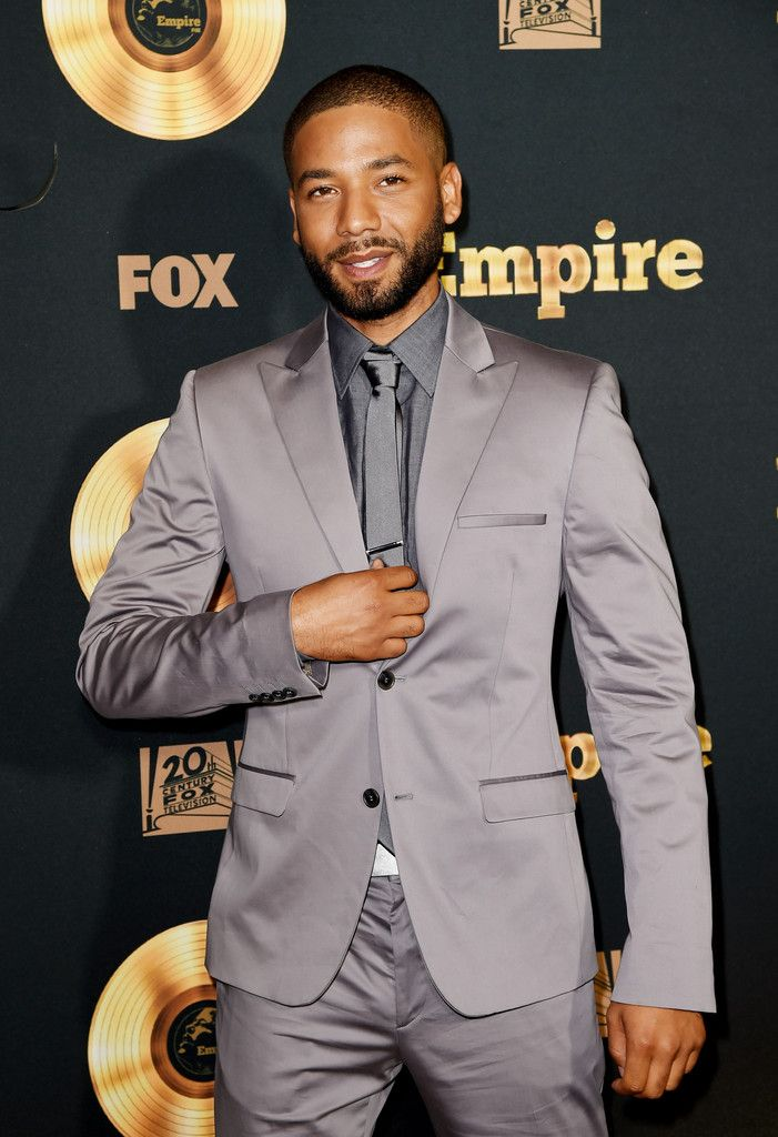 "Jussie Smollett arrives at the Television Academy event for Fox Tv's ""Empire"" - A Performance Under The Stars at The Grove on May 29, 2015 in Los Angeles"
