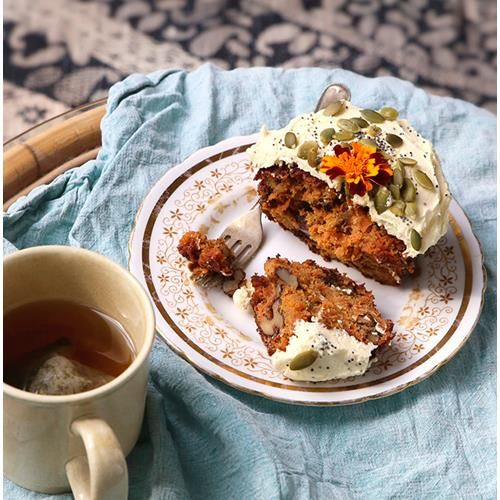 Carrot orange & ginger cakes with marscapone