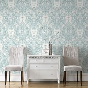 Superfresco Colours Palais Melody Duck Egg Wallpaper Homebase