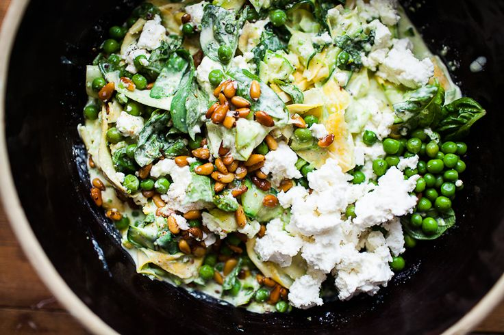 SQUASH PASTA WITH YOGURT, PEAS AND CHILE // FACING THAT OPEN SPACE - The Year In Food