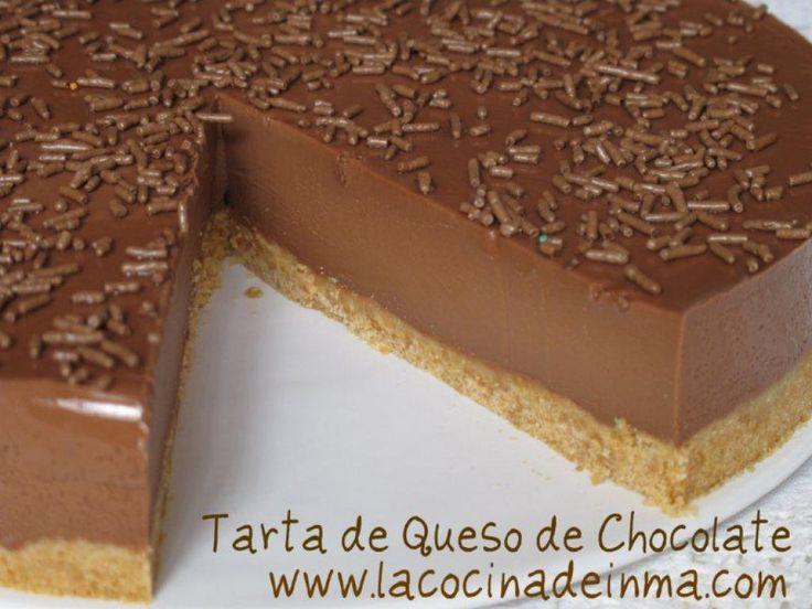 Tarta de Queso de Chocolate | Comparterecetas.com