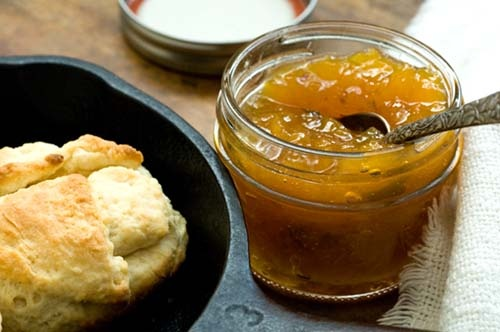 Peach jalapeno jam   from The Homesick Texan   My Aunt used to make this YUMMY
