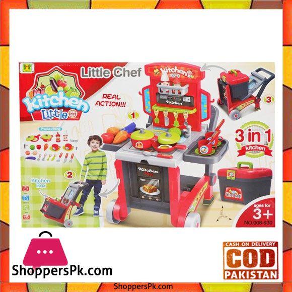 Buy Little Chef Kitchen 008 930 At Best Price In Pakistan Kitchen Box Chefs Kitchen Little Chef