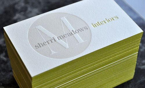 25 best letterpress business cards and stationery images on 3 color letterpress business cards printed 2 sides on cranes crest kid double thick with edge colourmoves