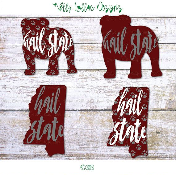 MSU Bulldogs Hail State Mississippi State by KellyLollarDesigns