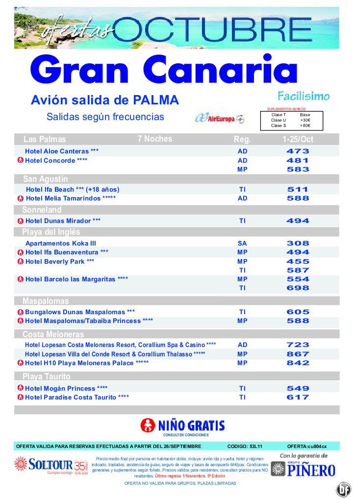 Hoteles en Gran Canaria, salidas en Octubre desde Palma de Mallorca - 5ª Edicion ofertas Octubre - http://zocotours.com/hoteles-en-gran-canaria-salidas-en-octubre-desde-palma-de-mallorca-5a-edicion-ofertas-octubre/