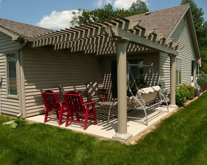 Pergola attached to house a comfortable transition in home for How to build a house in california