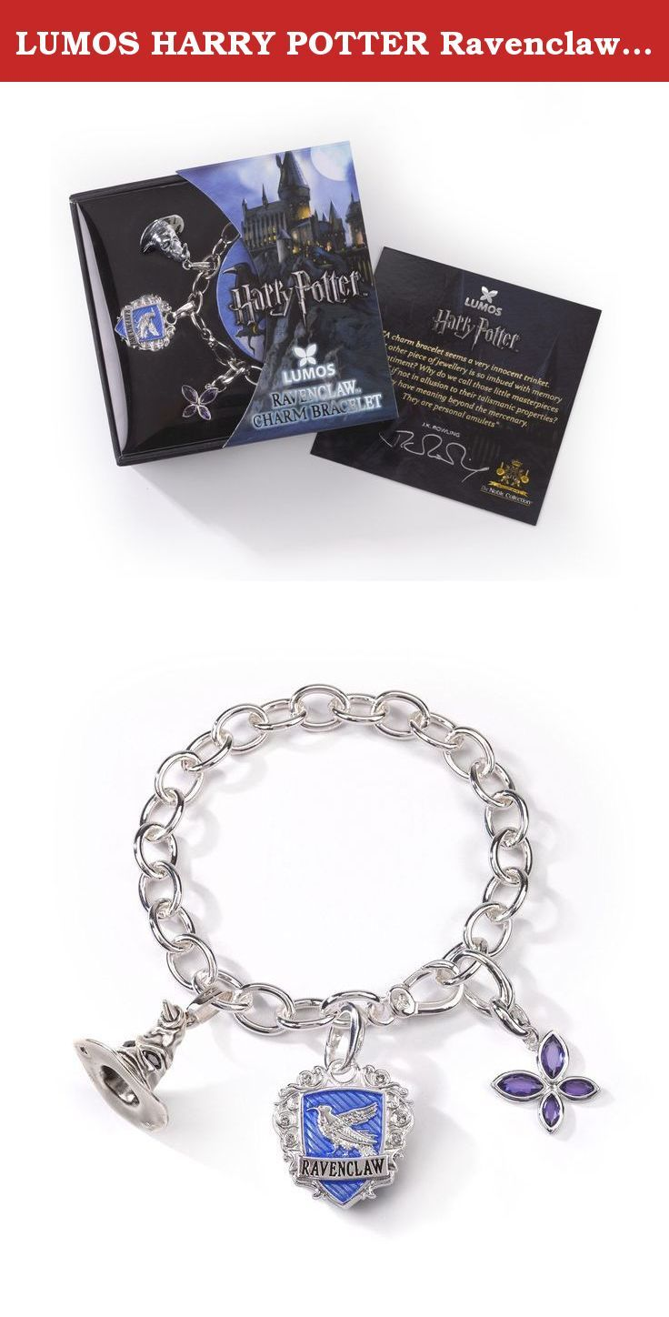"LUMOS HARRY POTTER Ravenclaw Charm Bracelet. ""A charm bracelet seems a very innocent trinket. What other piece of jewellery is so imbued with memory and sentiment? Why do we call those little masterpieces ""charms"" if not in allusion to their talismanic properties? They have meaning beyond the mercenary. They are personal amulets."" ""Lumos is a spell I created in HARRY POTTER that brings light to a desperately dark and frightening place. At Lumos this is just what we do: we reveal the…"