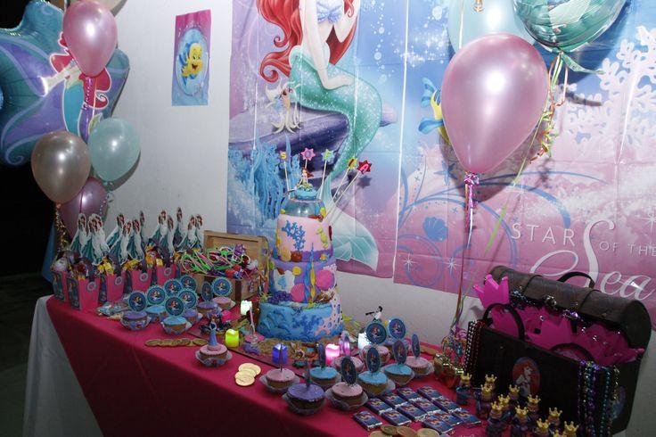 Ariel little mermaid Themed party