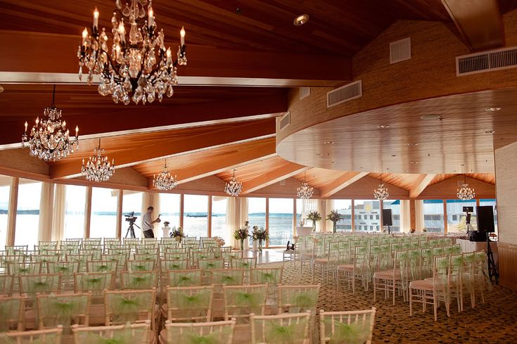 """Our stunning wedding venue the """"Olympic Ballroom"""" at the edgewater hotel in downtown seattle waterfront."""